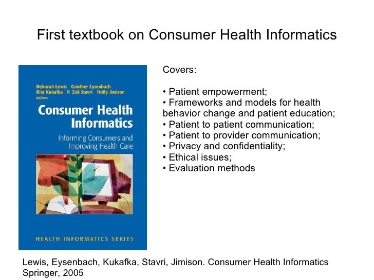 consumer health informatics is every patient