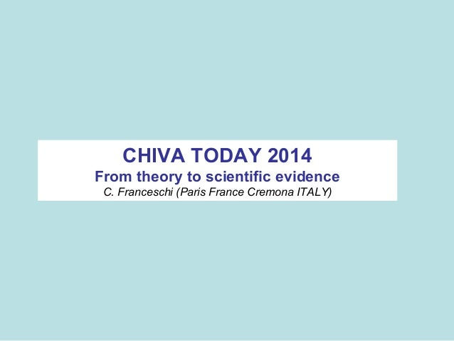 CHIVA TODAY 2014 From theory to scientific evidence C. Franceschi (Paris France Cremona ITALY)