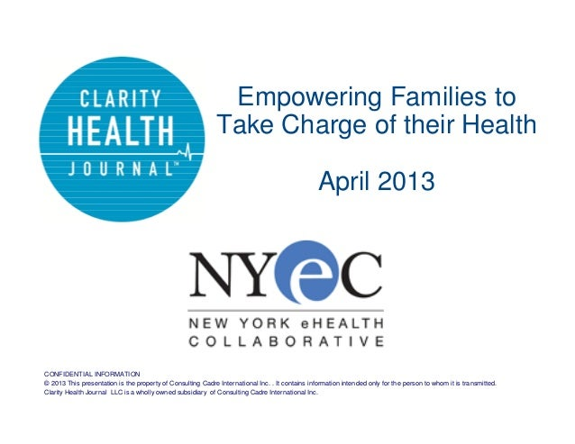 Empowering Families to                                                             Take Charge of their Health            ...
