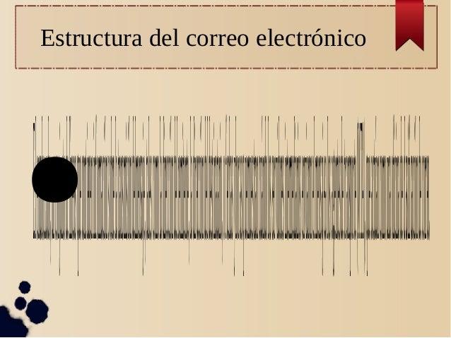 Estructura del correo electrónico ●Elencabezado,unconjuntodelíneasquecontieneninformaciónsobrelatransmisióndelmensaje,tale...