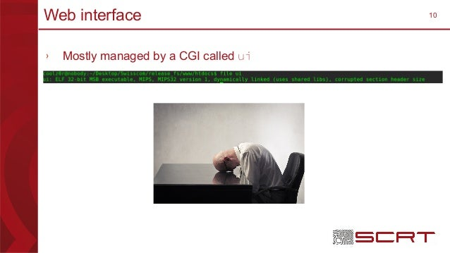 10Web interface › Mostly managed by a CGI called ui