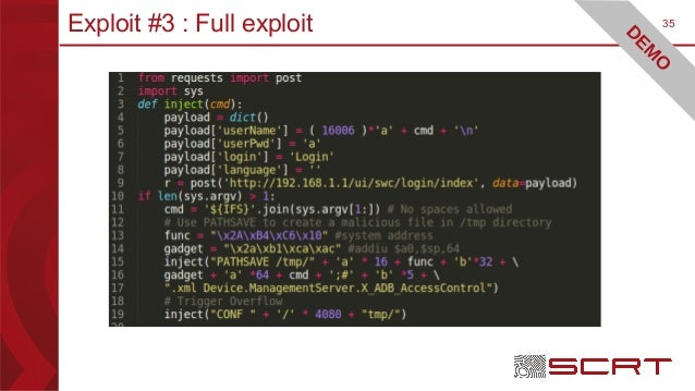 35Exploit #3 : Full exploit D EM O