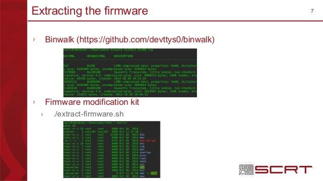 7Extracting the firmware › Binwalk (https://github.com/devttys0/binwalk) › Firmware modification kit › ./extract-firmware....