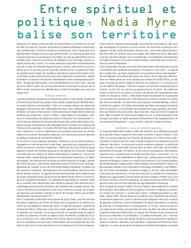 Entre spirituel etpolitique, Nadia Myrebalise son territoireDétourner les tabous institutionnels du spirituel dans l'art a...