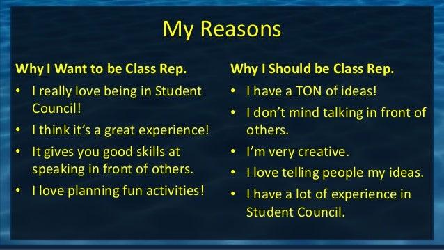 Chloe class rep.