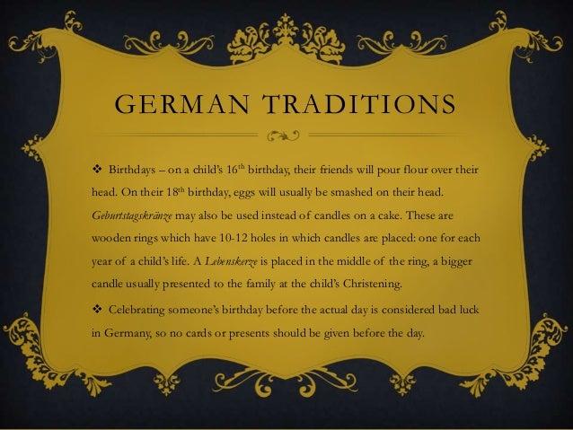 German Birthday Cakes Traditions
