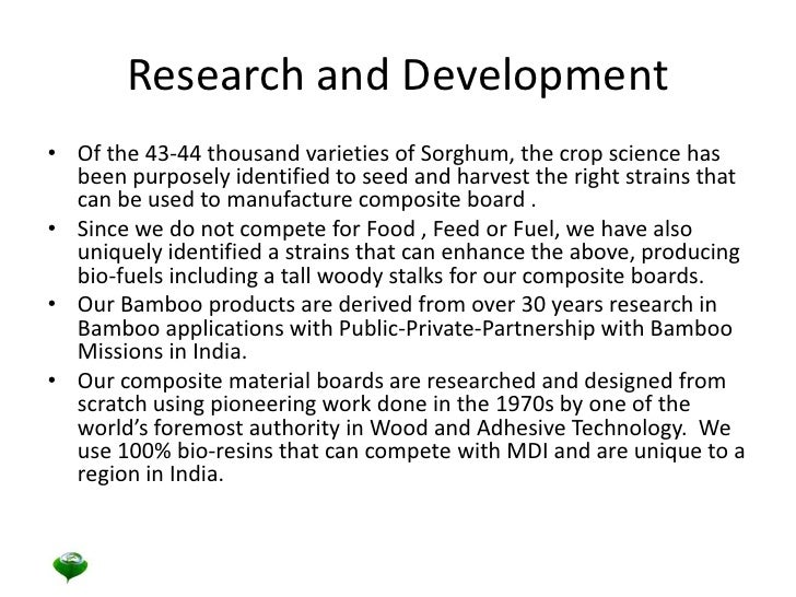 Research and Development<br />Of the 43-44 thousand varieties of Sorghum, the crop science has been purposely identified t...