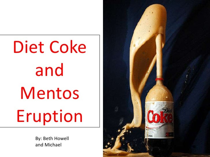 Diet Coke & Mentos Reaction