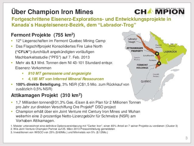 CIA.TO – Champion Iron Limited – Stocks Canada