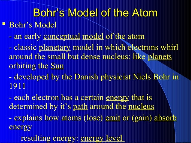 Giant Presentation On Model Of An Atom