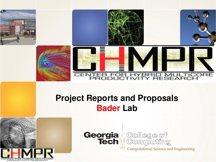Project Reports and Proposals          Bader Lab