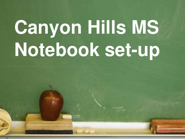 Canyon Hills MS Notebook set-up
