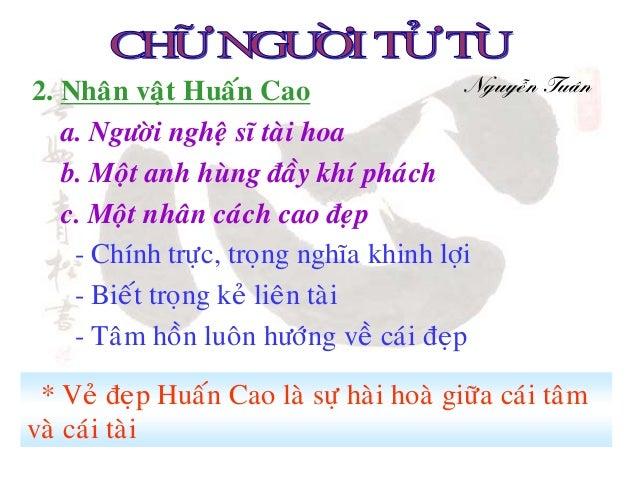 2. Nhaân vaät Huaán Cao                   Nguyeãn Tuaân   a. Ngöôøi ngheä só taøi hoa   b. Moät anh huøng ñaày khí phaùch ...