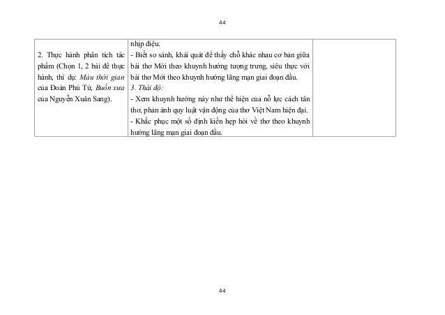 44                              nhịp điệu.2. Thực hành phân tích tác    - Biết so sánh, khái quát để thấy chỗ khác nhau cơ...