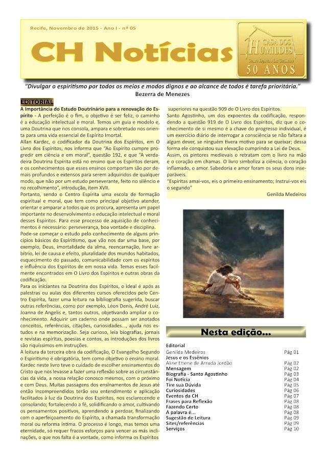 Recife, Novembro de 2015 - Ano I - nº 05 CH Notícias Recife, Novembro de 2015 - Ano I - nº 05 CH Notícias