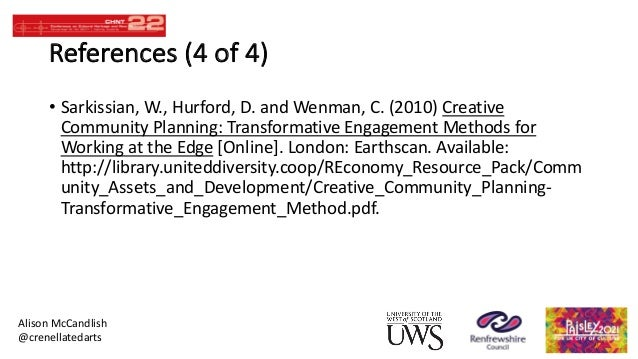Transformative Engagement Methods for Working at the Edge Creative Community Planning