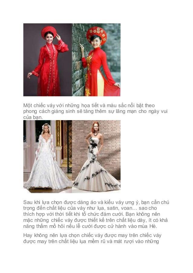 Một chiếc váy với những họa tiết và màu sắc nổi bật theo phong cách giáng sinh sẽ tăng thêm sự lãng mạn cho ngày vui của b...