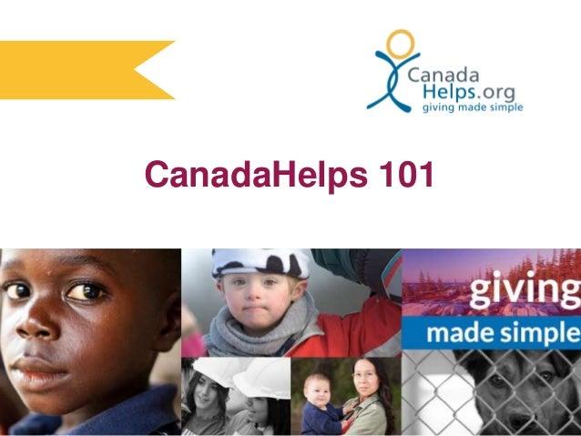 CanadaHelps 101