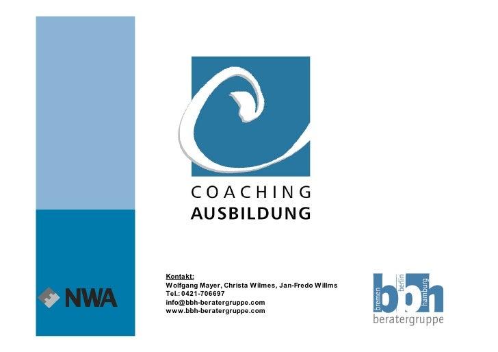 Coaching Ausbildung 2009