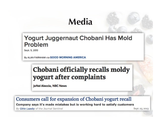 case study chobani yogurt Below is a free excerpt of case study chobani: making greek yogurt a  household name from anti essays, your source for free research.