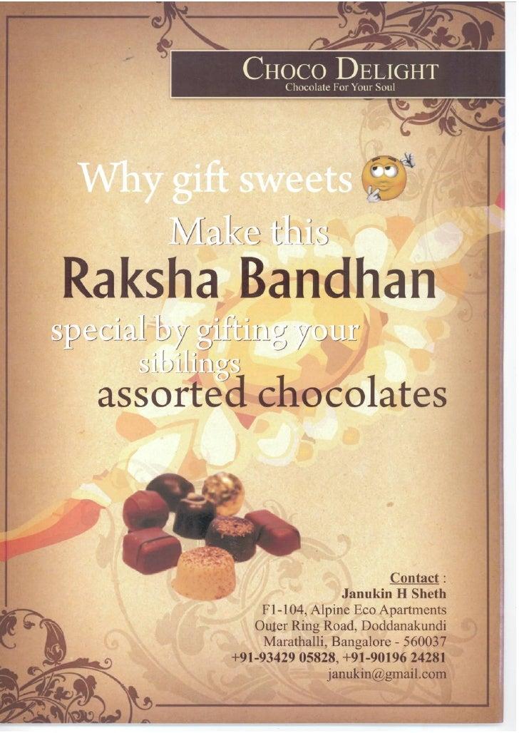 ChocoDelight's Offering for RakshaBandhan 2010