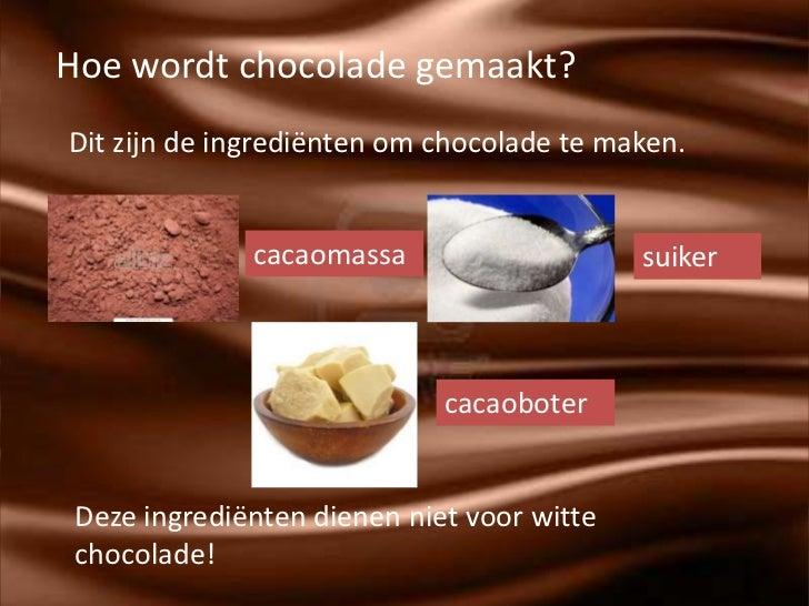 ingredienten chocolade