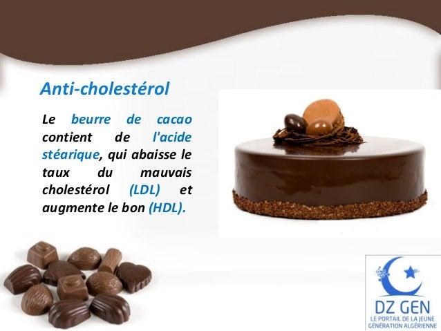 cholesterol et chocolat bon ou mauvais