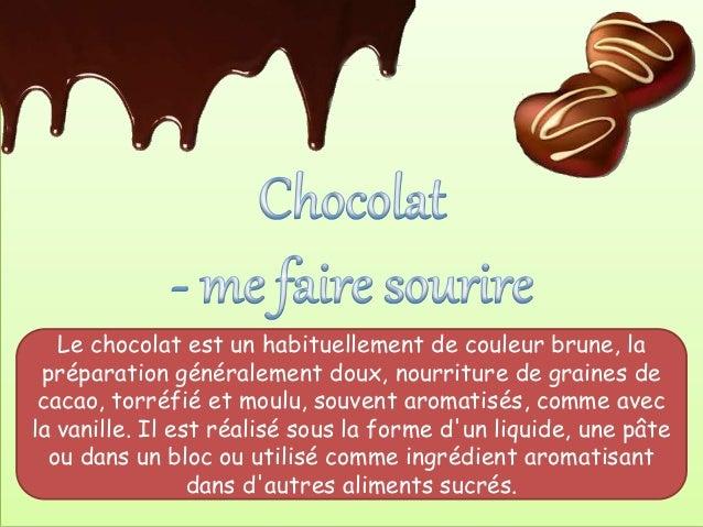 Le chocolat est un habituellement de couleur brune, la préparation généralement doux, nourriture de graines de cacao, torr...