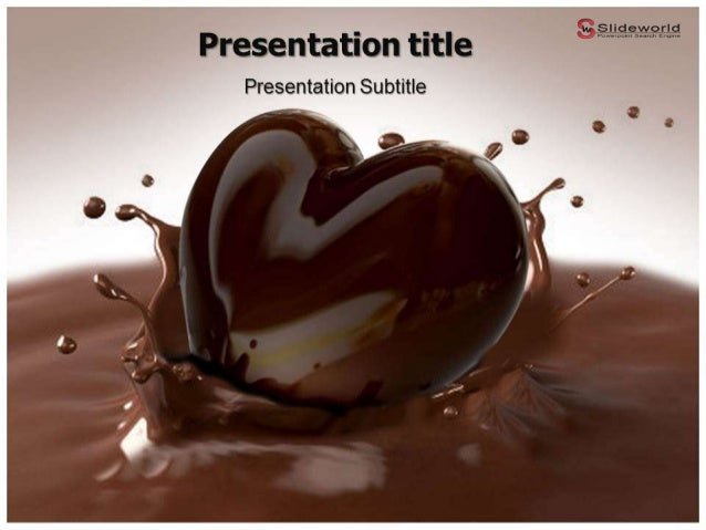 chocolate day powerpoint template. Black Bedroom Furniture Sets. Home Design Ideas