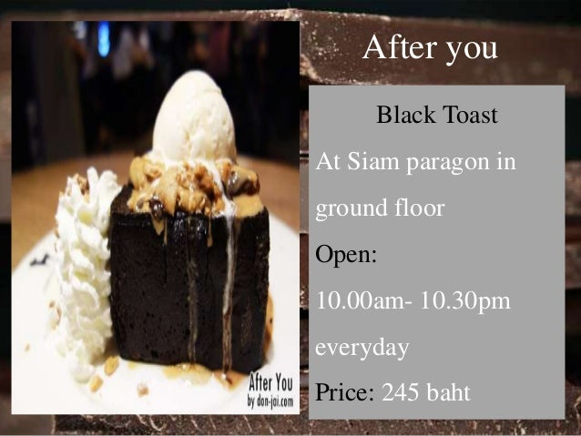 Bake a wish  Chocolate Concord  At Mega Bangna,  2nd floor  Open:  11.00am- 20.00pm  Price: 95 baht