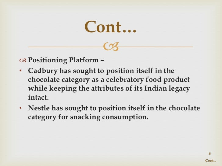 consumer preference towards cadbury and nestle The demand of cadbury product also depends on consumer's preference and taste as a result, there is a strong demand towards cadbury products economics analysis of cadbury about me sarah lim.