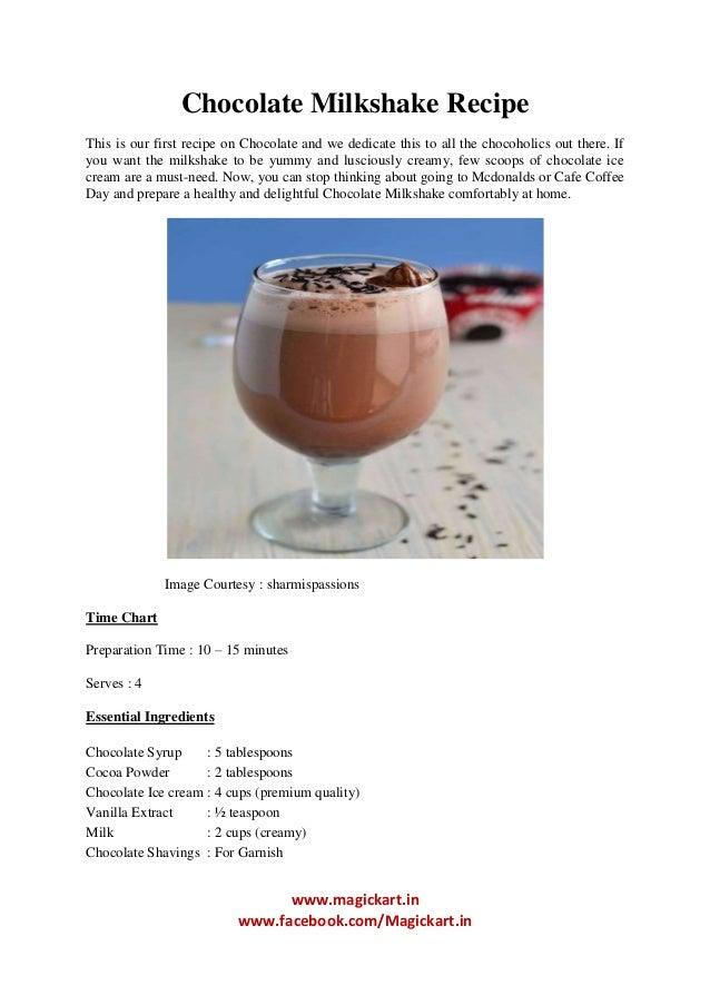 In N Out Chocolate Milkshake Recipe