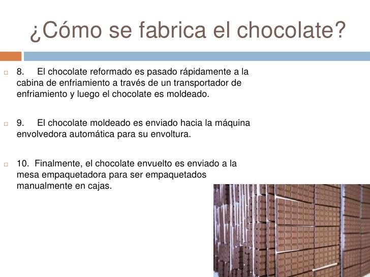 chocolate y su fabricacion