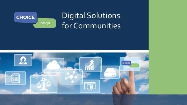 Digital Solutions for Communities