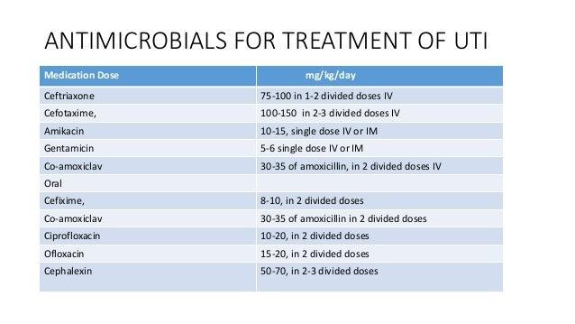 iv antibiotics for bladder infection