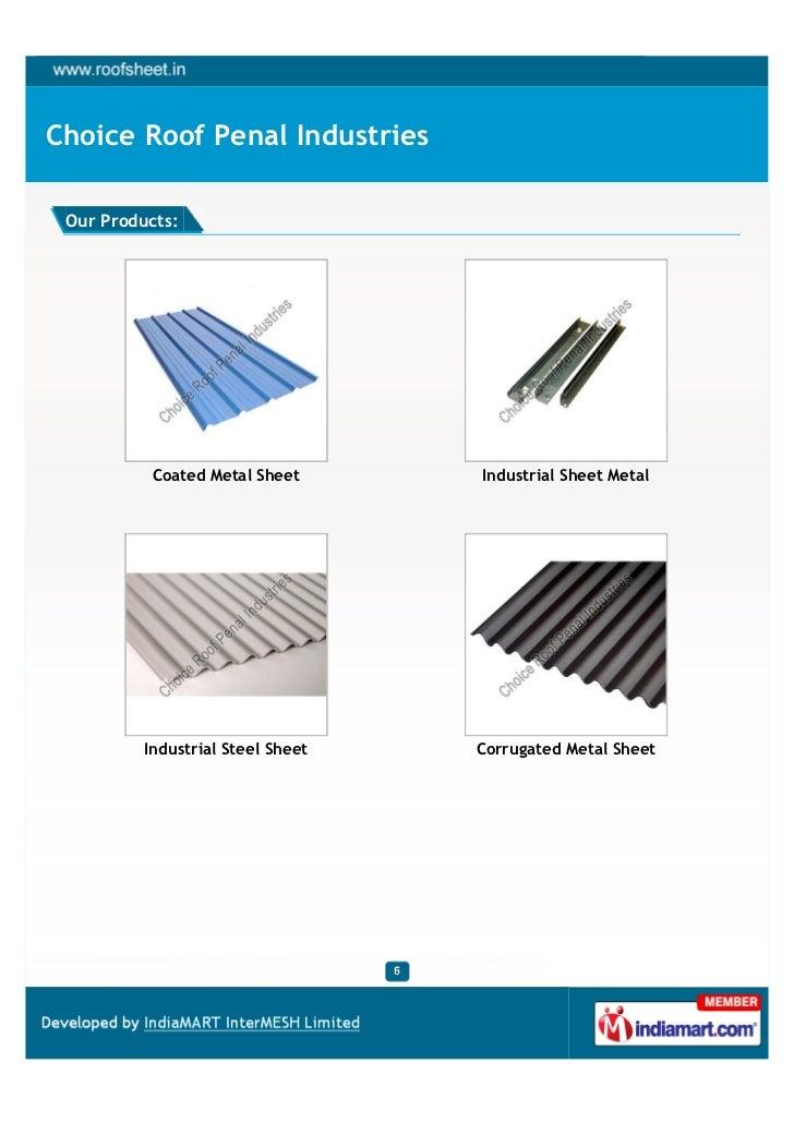 Choice Roof Penal Industries Ahmedabad Coated Steel Sheet