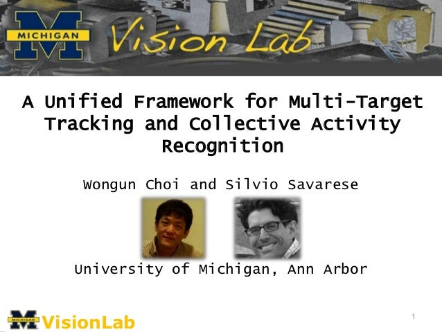 A Unified Framework for Multi-Target  Tracking and Collective Activity             Recognition     Wongun Choi and Silvio ...
