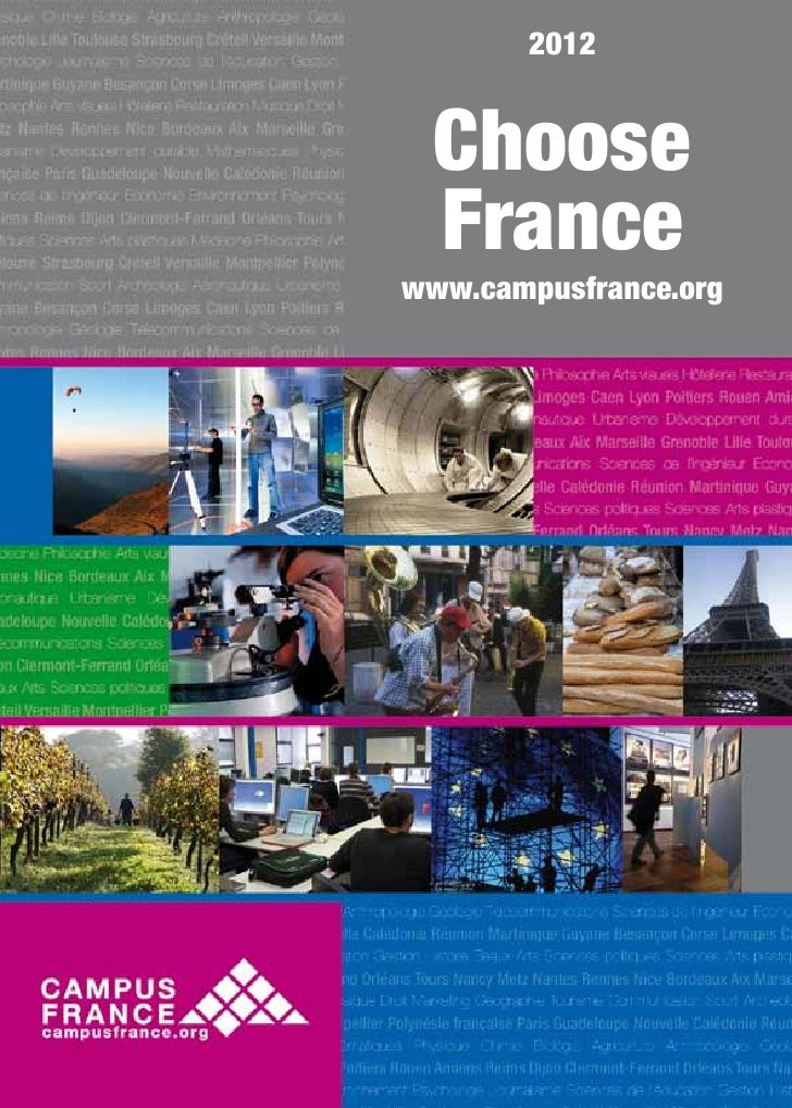 2012  Choose  Francewww.campusfrance.org