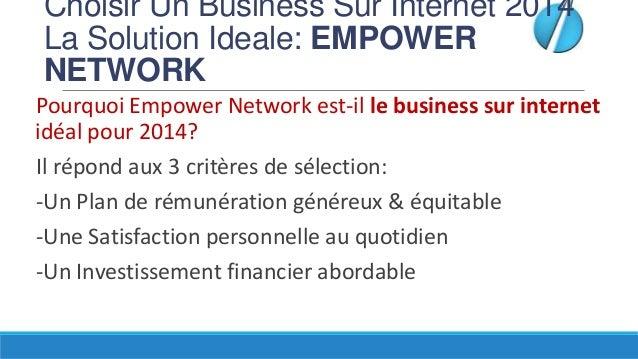 Choisir Un Business Sur Internet 2014 La Solution Ideale: EMPOWER NETWORK Pourquoi Empower Network est-il le business sur ...