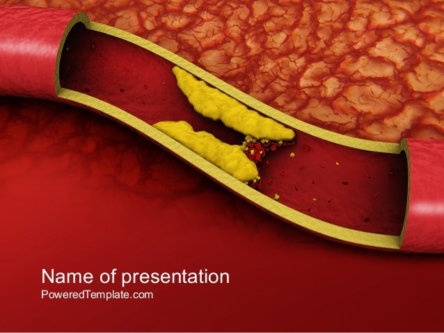 cholesterol powerpoint template by poweredtemplatecom