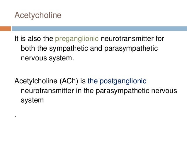 Cholinergic transmission and drugs