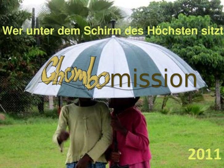 Wer unter dem Schirm des Höchsten sitzt<br />2011<br />