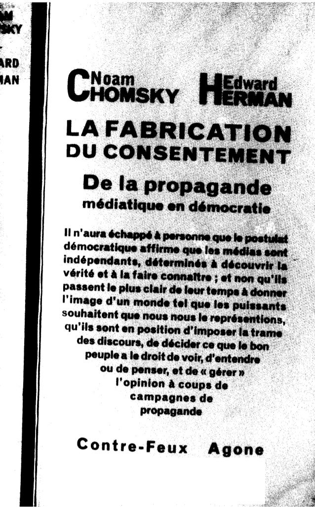 Chomsky - la fabrication du consentement