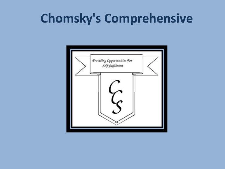 Chomskys Comprehensive