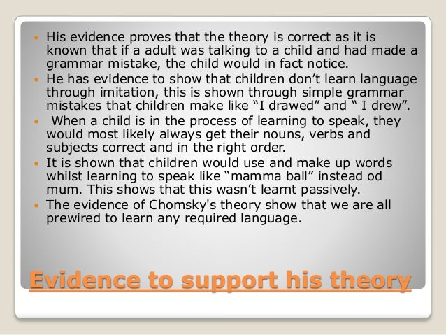 Chomsky's theory Slide 3