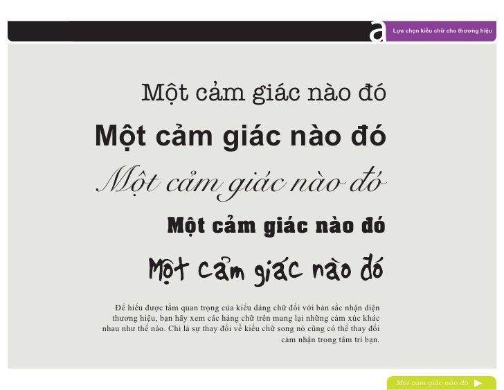 Lựa chọn kiểu chữ cho thương hiệu          Một cam giác nào đóMột cảm giác nào đóMoät caœm giaùc naøo ñoù                 ...