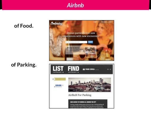 Airbnb of Food. of Parking.