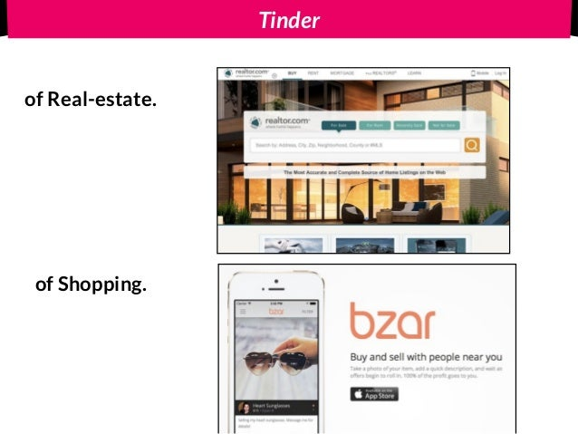 Tinderof Real-estate. of Shopping. Tinder