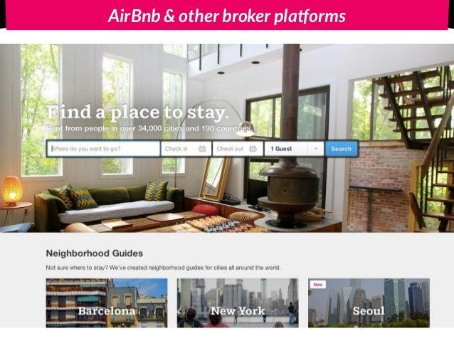 AirBnb & other broker platforms