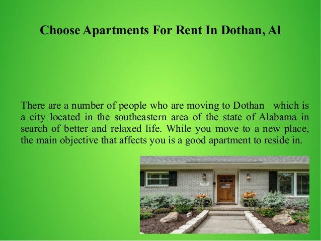 Why Choose Apartments For Rent In Dothan Al